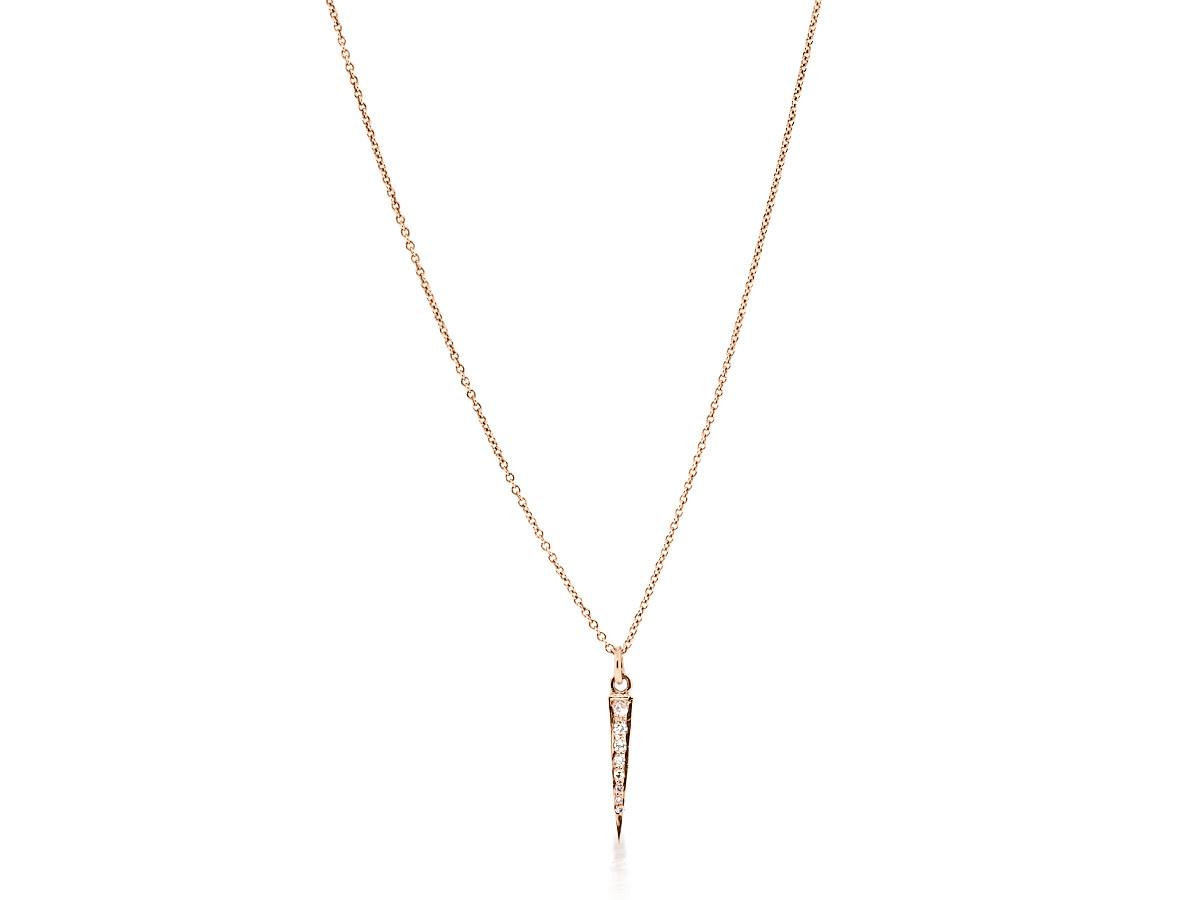 Mini Dagger Diamond Rose Gold Pendant