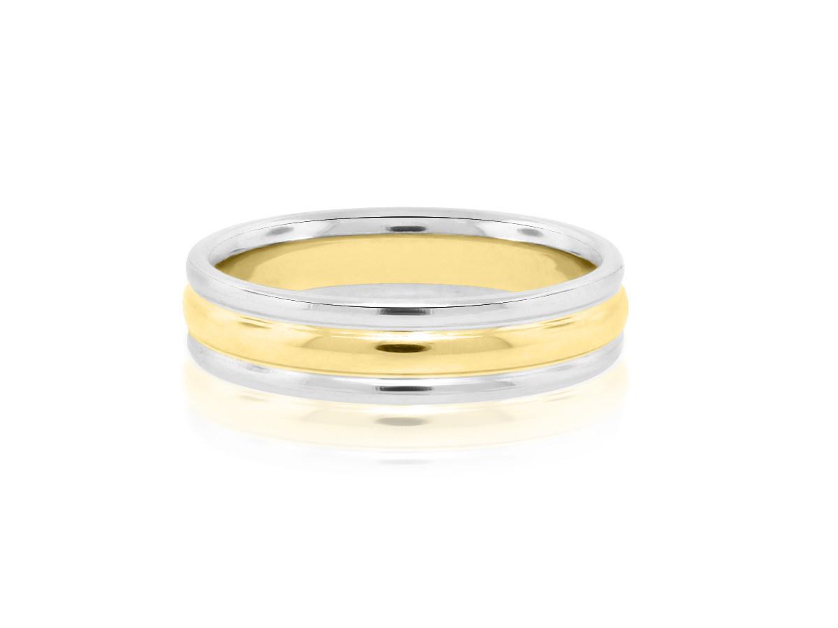 Trabert Goldsmiths Platinum & Yellow Gold Men's Ring