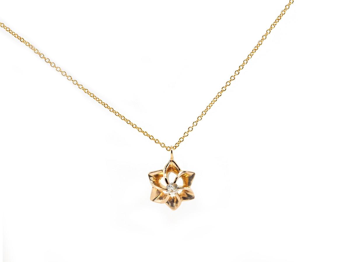 Trabert Goldsmiths Vintage Diamond Flower Pendant
