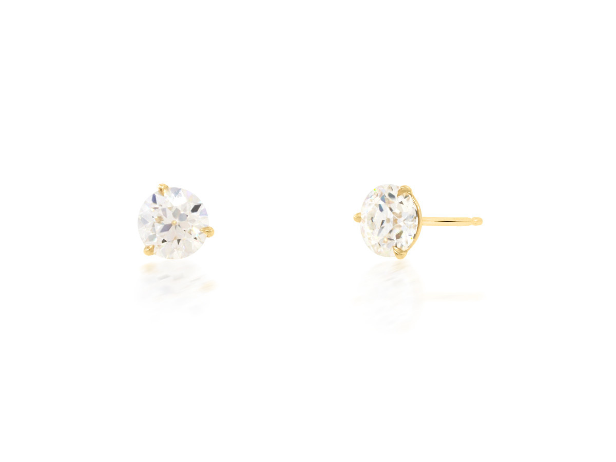 Trabert Goldsmiths 1.60ct Moissanite Stud Earrings