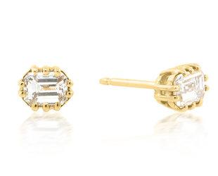 Jamie Joseph Jewelry Designs Emerald Cut Diamond Earrings JD81