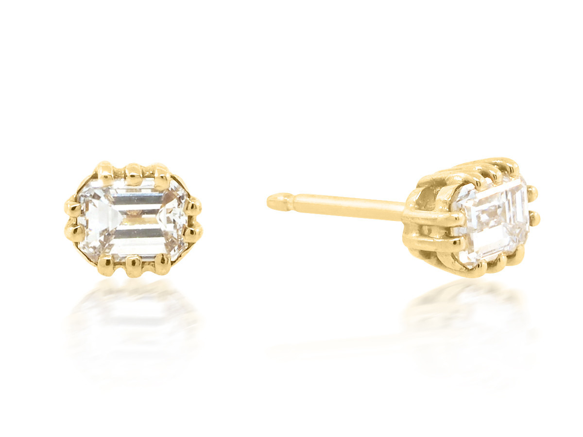 Jamie Joseph Jewelry Designs Diamond Baguette Earrings