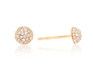 Small Pave Diamond Dome Stud Earrings LV95