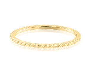 Trabert Goldsmiths Delicate Gold Rope Band E1593