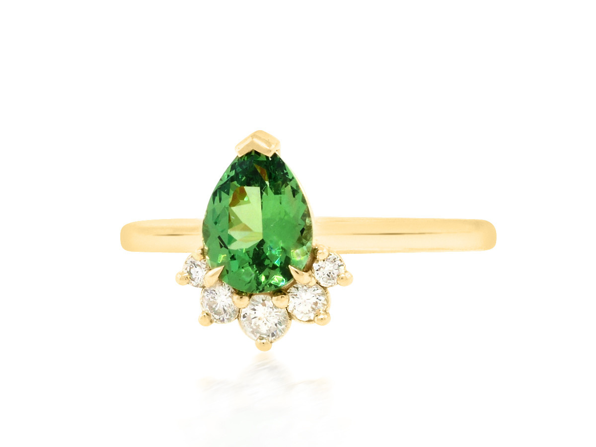 Trabert Goldsmiths 1ct Tsavorite Garnet 'Comet' Ring E1922