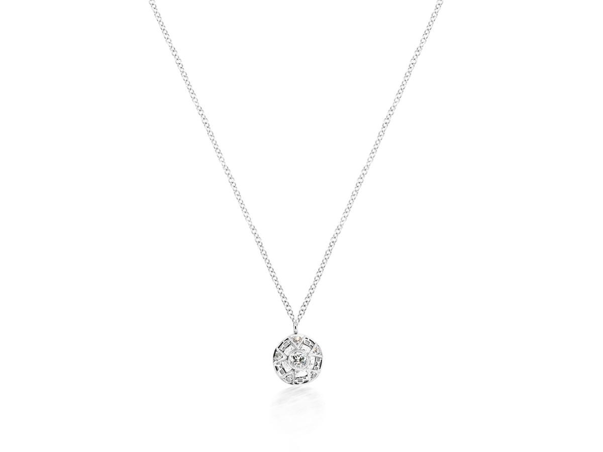 Trabert Goldsmiths Antique 5 Point Diamond Pendant