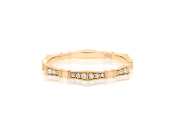 Erika Winters 'Imogen' Diamond Rose Gold Band EW4