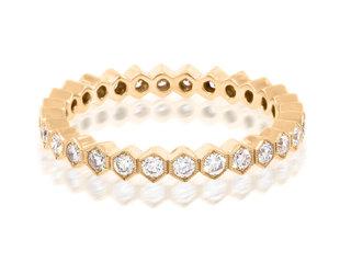 Beverley K Collection Diamond Hexagonal Eternity Band AB443
