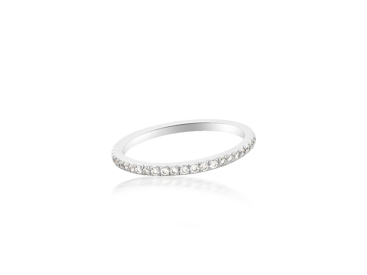 Trabert Goldsmiths Linea French Pave Diamond Platinum Eternity Band