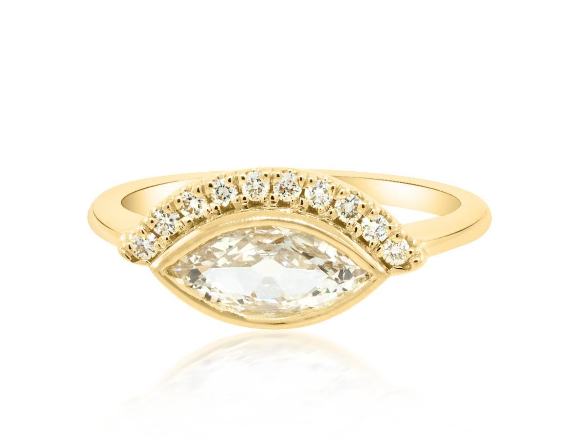 Trabert Goldsmiths 0.69ct Marquise Diamond Calypso Ring