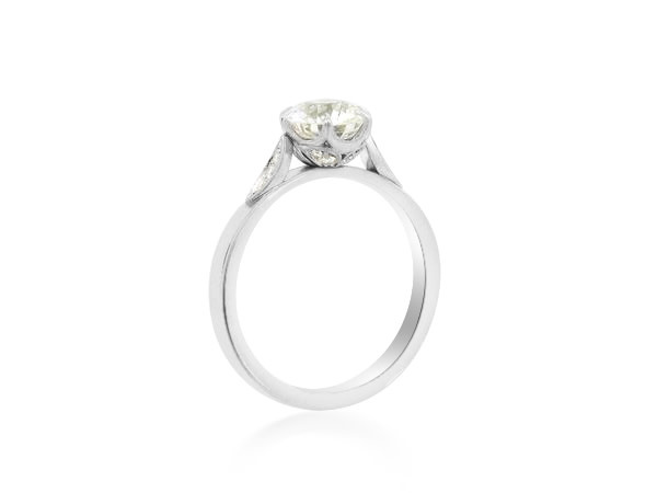 Erika Winters 1.36ct HVS2 Old European Diamond Grace Ring