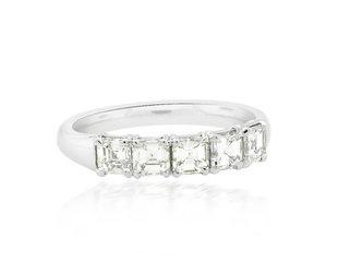 Precision Set 5-Stone Asscher Diamond Band PS41
