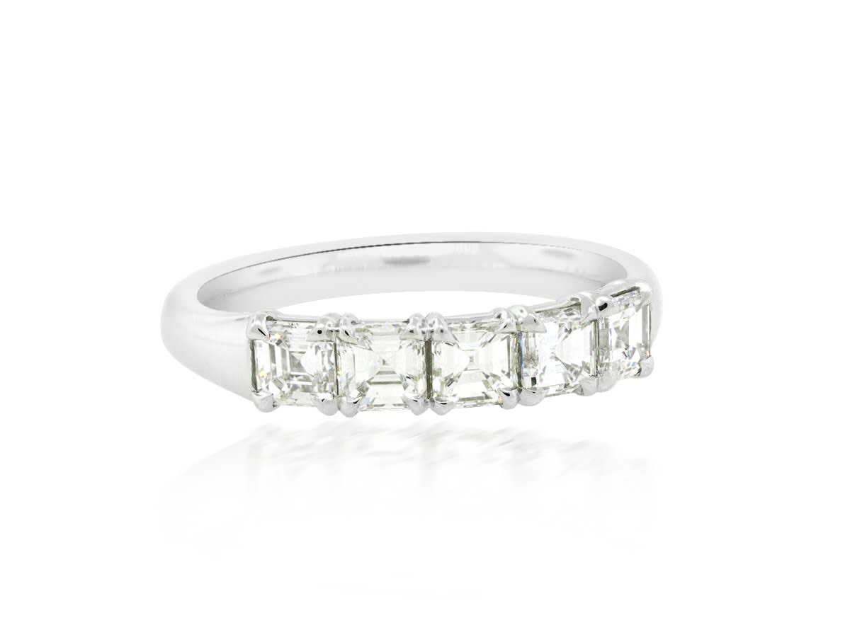 5-Stone Asscher Diamond Band
