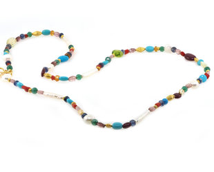 Trabert Goldsmiths Multi Colored Gemstone Necklace E2139