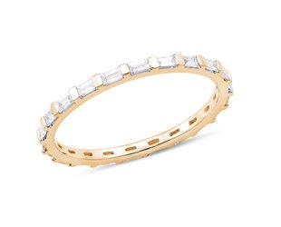 Dana Rebecca Sadie Mini Baguette Diamond Gold Ring DR7