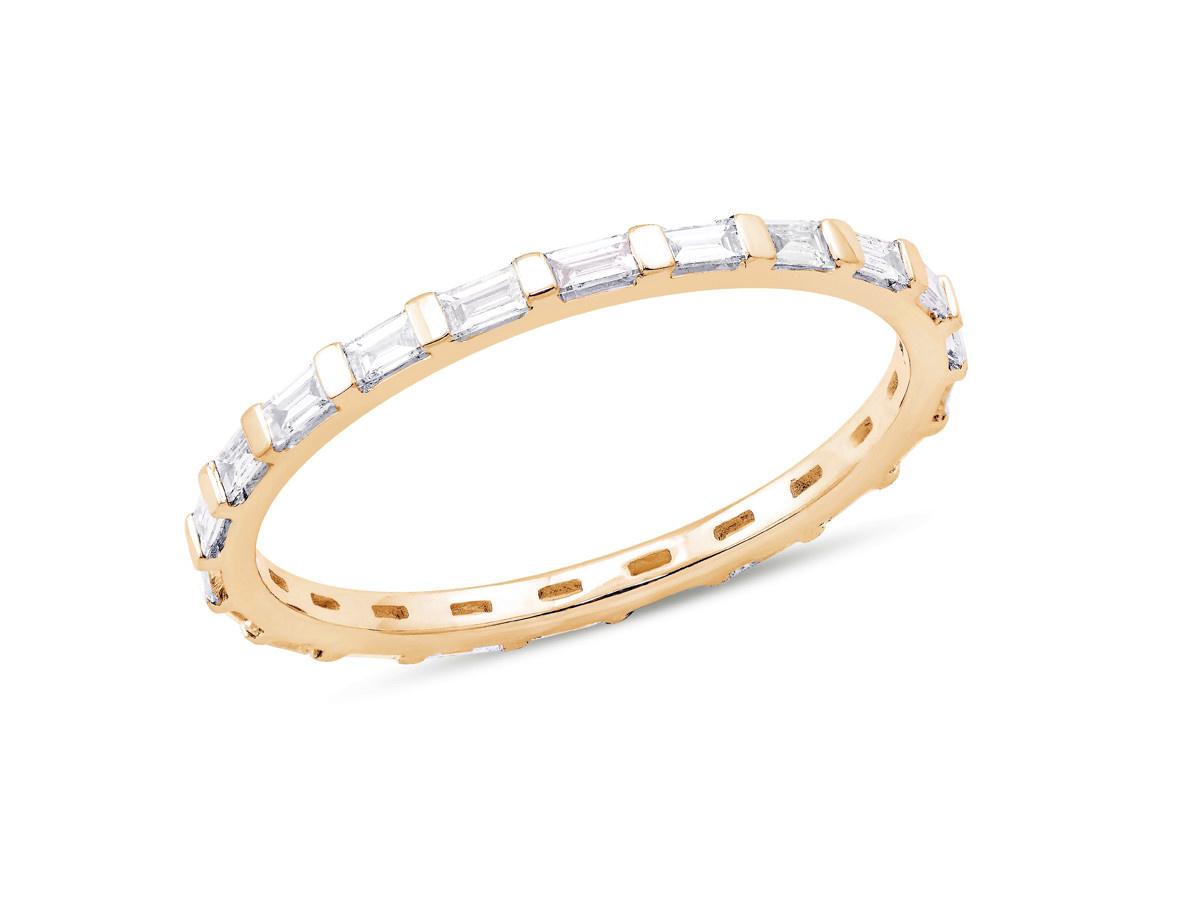 Dana Rebecca Sadie Mini Baguette Diamond Gold Ring