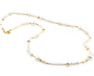 Trabert Goldsmiths Mixed Pearl Confetti Necklace E2150