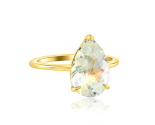 Trabert Goldsmiths 2.12ct Rainbow Moonstone Aura Ring E2098