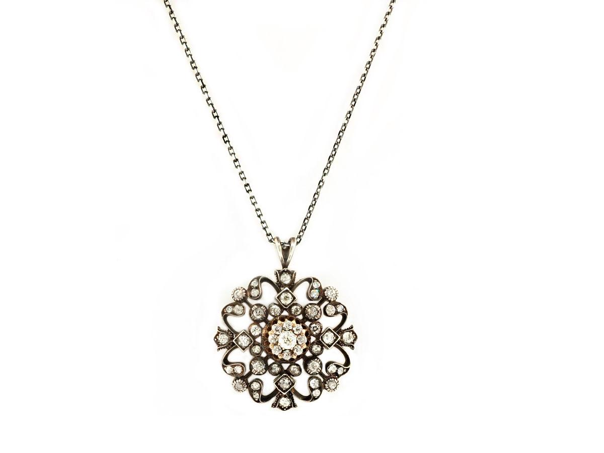 Trabert Goldsmiths Vintage Victorian Diamond Pendant