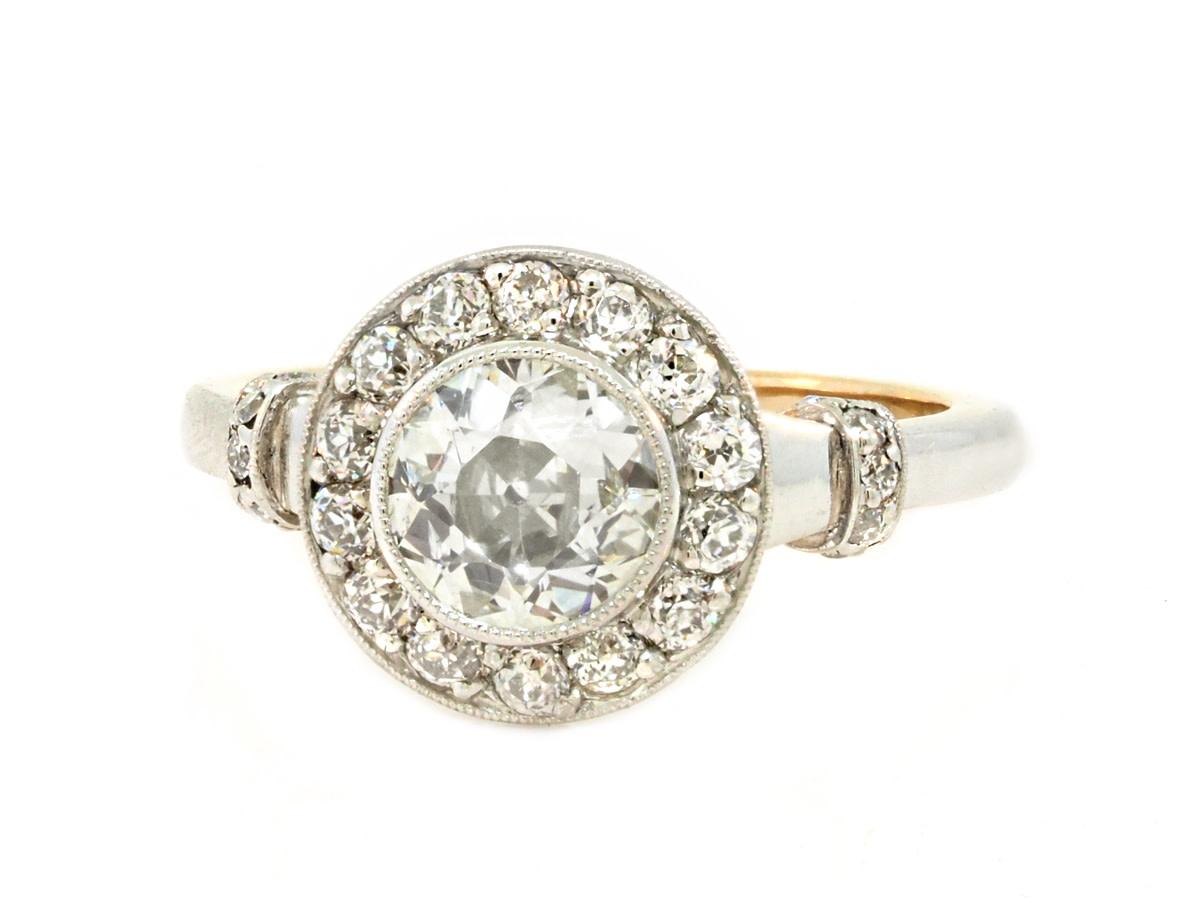 Trabert Goldsmiths Vintage Art Deco Diamond Ring