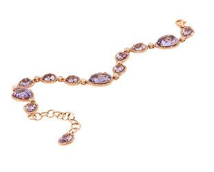 Pink Amethyst and Diamond Link Bracelet DL56