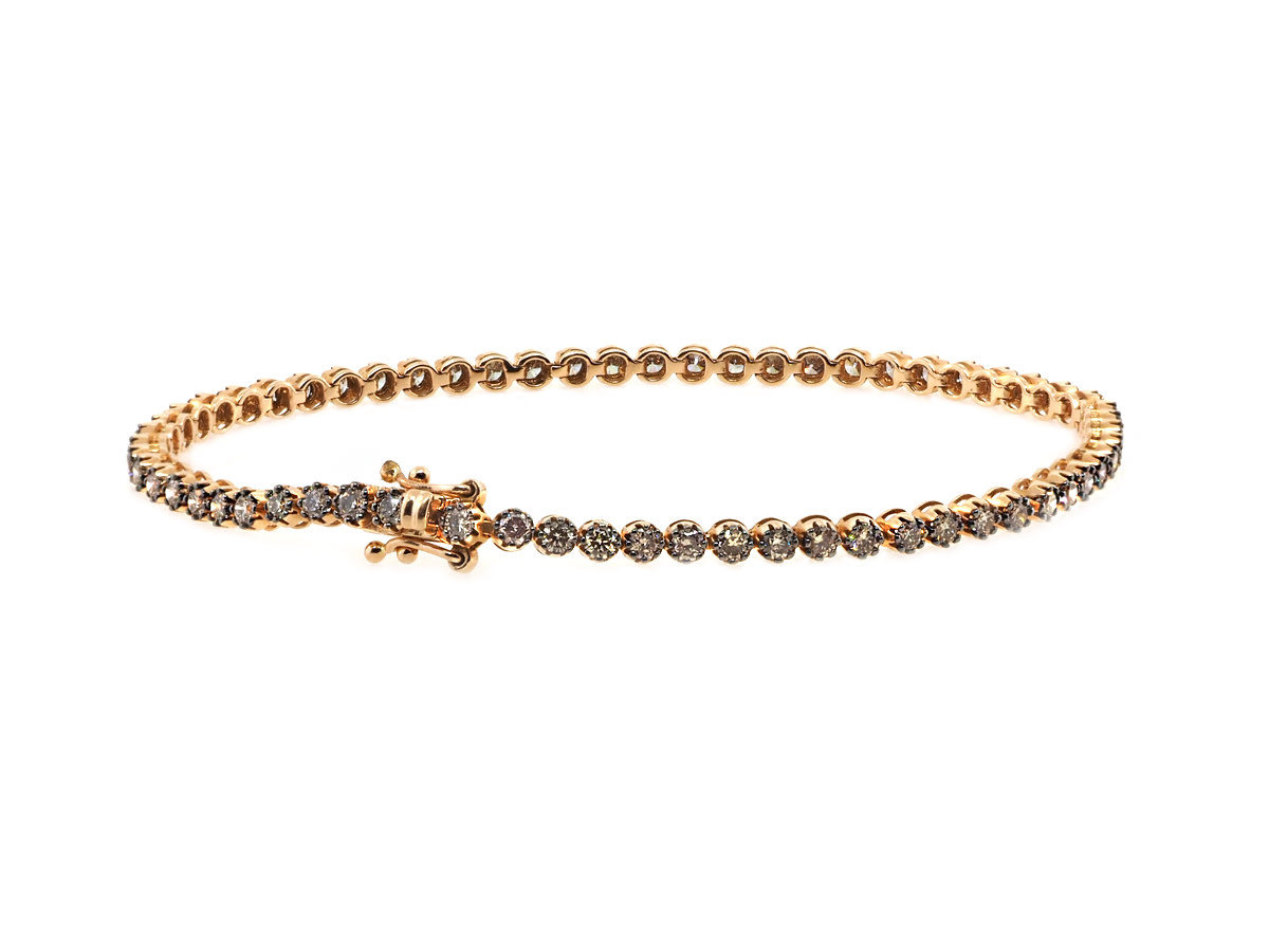 Champagne Diamond Tennis Bracelet