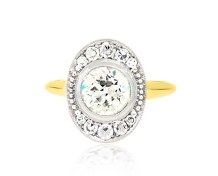 Trabert Goldsmiths 1.06ct ISI2 Oval Ollusion Ring E2170