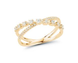 Dana Rebecca Ava Bea Cross Over Diamond Ring DR32