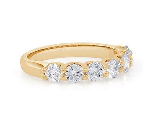 Trabert Goldsmiths Seven Sisters Moissanite Gold Ring E2177