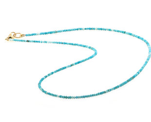 Trabert Goldsmiths Petite Baby Beaded Turquoise Necklace E2178