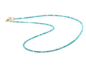 Trabert Goldsmiths Petite Baby Beaded Turquoise Necklace E2178