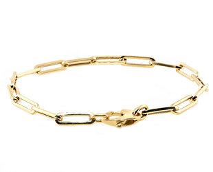 Medium Oval Link Gold Bracelet E2189