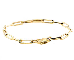 Trabert Goldsmiths Medium Oval Link Gold Bracelet E2189