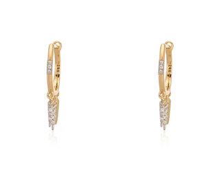 Trabert Goldsmiths Diamond Dangle Spike Earrings E2193