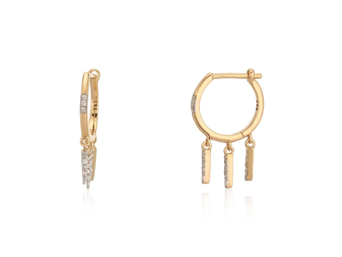 Trabert Goldsmiths Diamond Dangle Spike Earrings