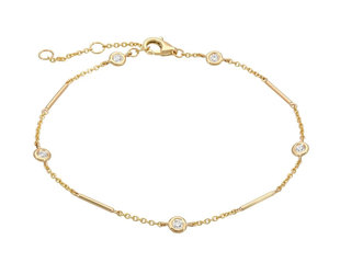 Gold Unity Bracelet With Diamond Stations LN91