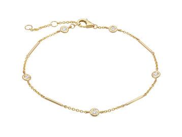 Gold Unity Bracelet With Diamond Stations LN91