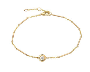 Single Diamond Unity Gold Bracelet LN96