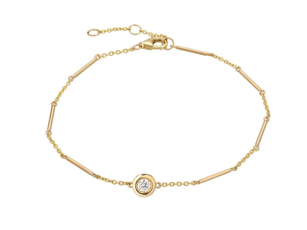 Single Diamond Unity Gold Bracelet LN96