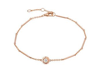 Single Diamond Unity Rose Gold Bracelet LN95