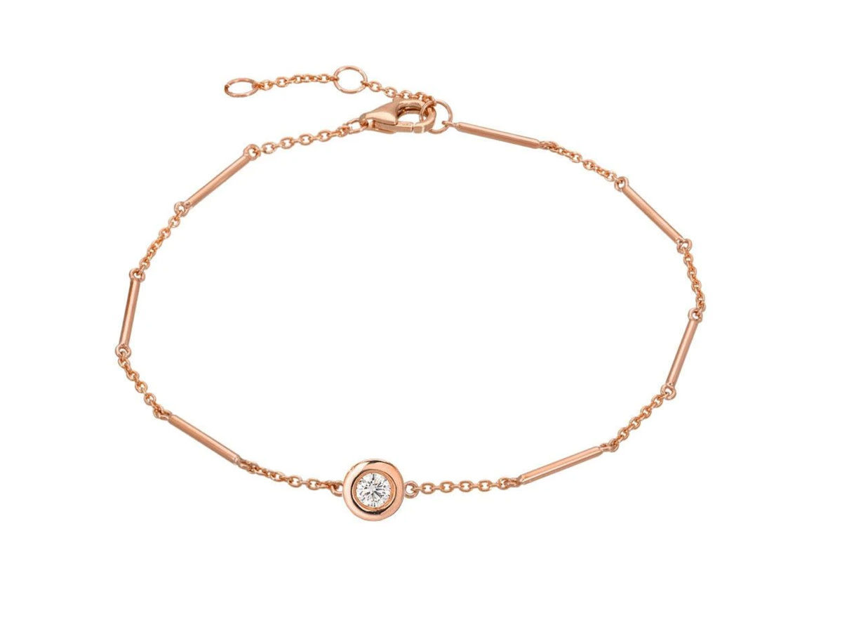 Single Diamond Unity Rose Gold Bracelet