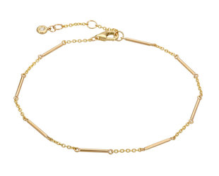 Gold Unity Bar Chain Bracelet LN93