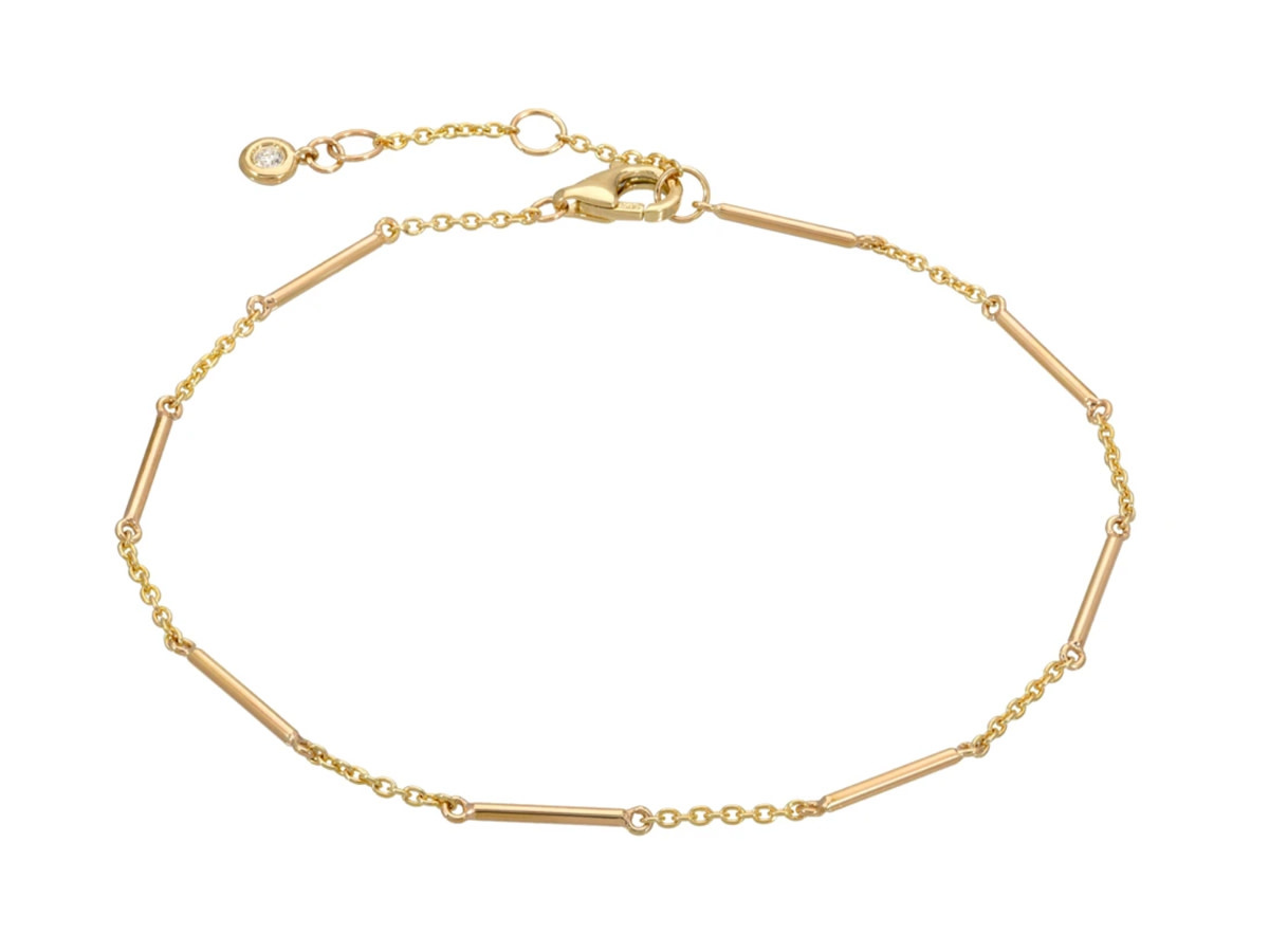 Gold Unity Bar Chain Bracelet
