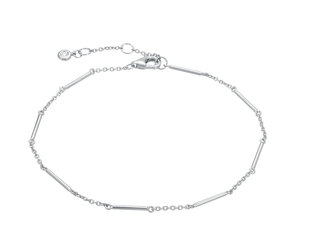 Unity Bar White Gold Bracelet LN75