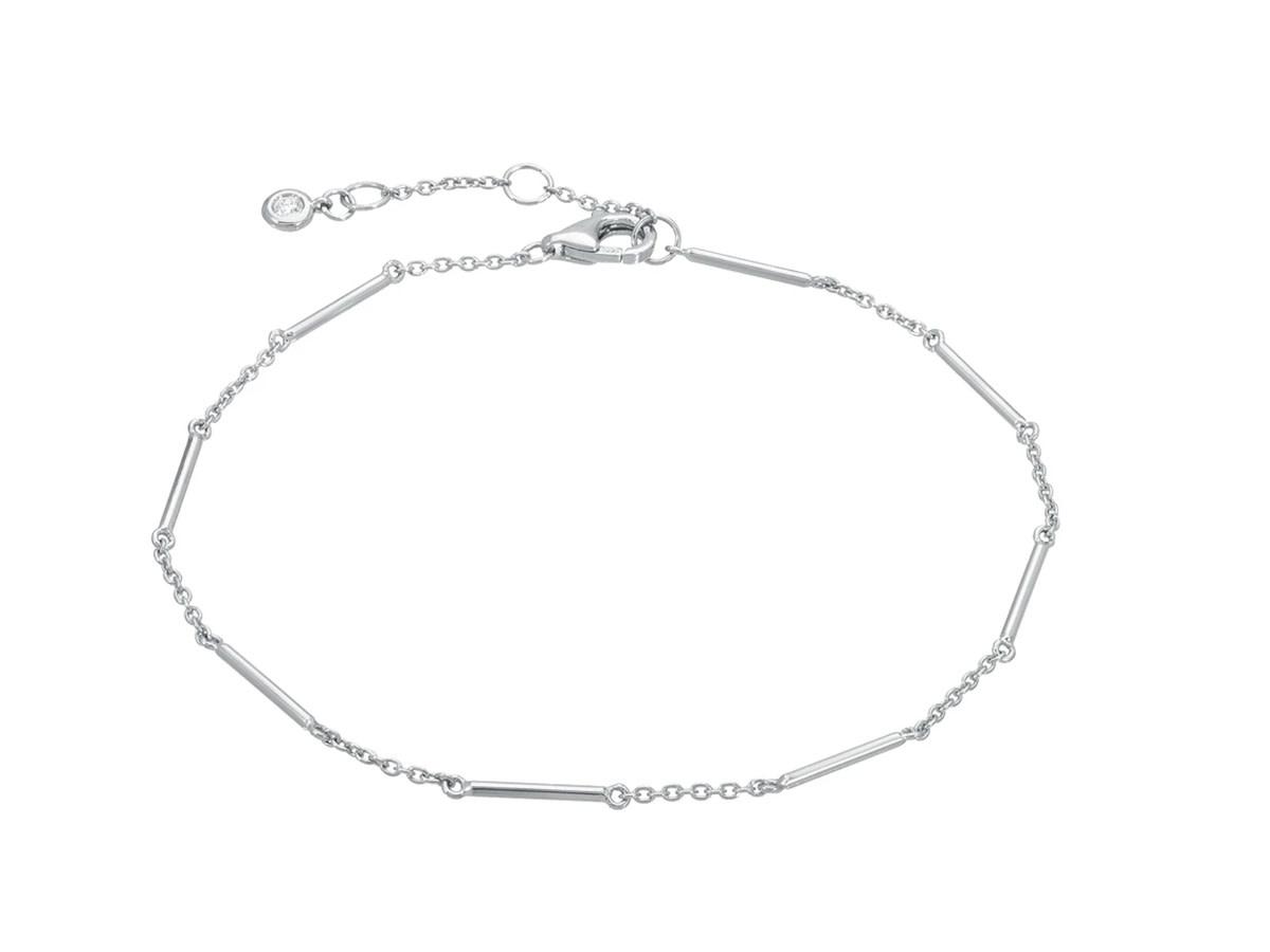 Unity Bar White Gold Bracelet