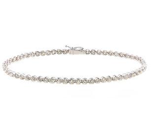 Trabert Goldsmiths Vintage Platinum Diamond Tennis  Bracelet E2209