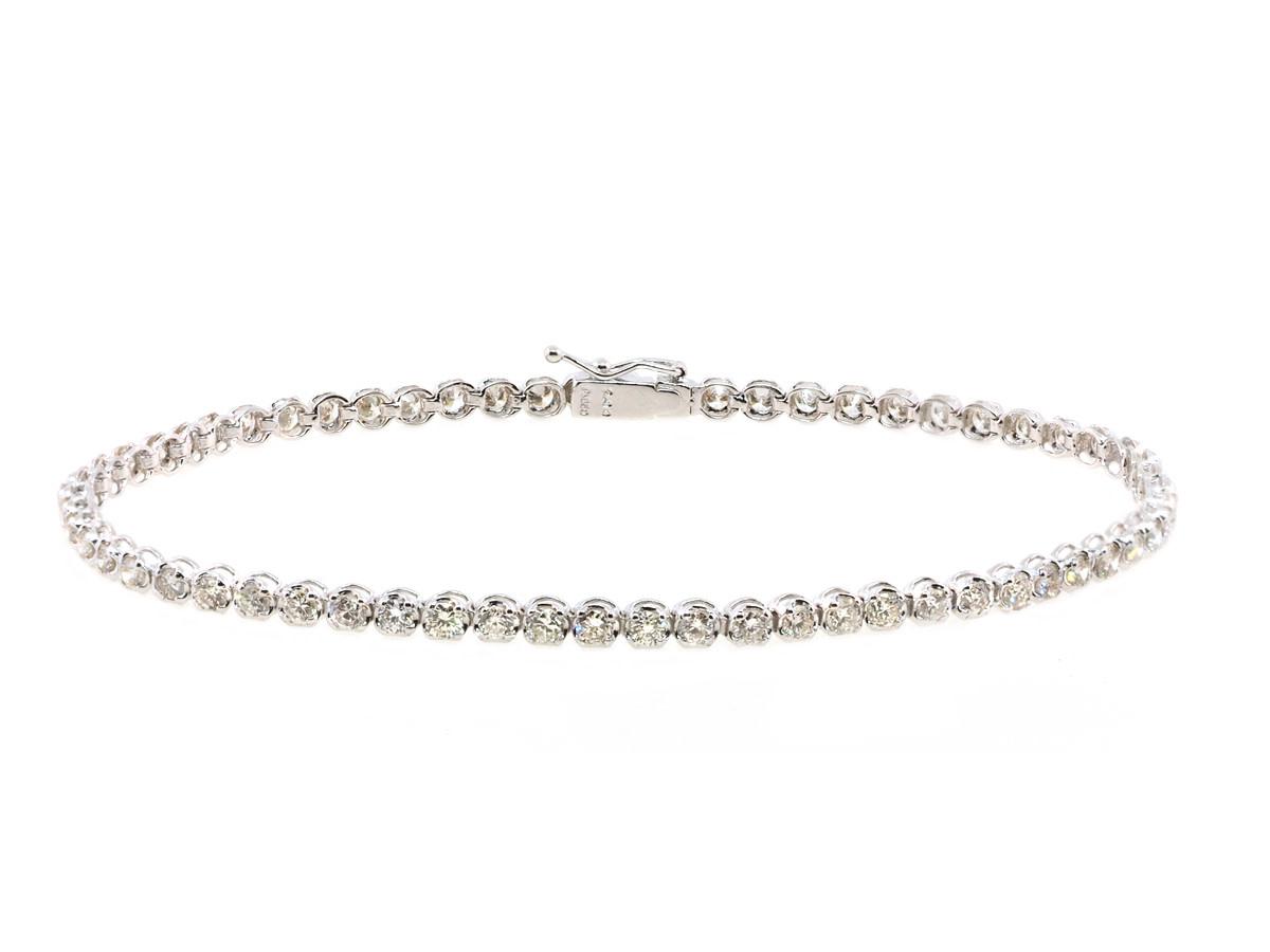 Trabert Goldsmiths Vintage Platinum Diamond Tennis Bracelet