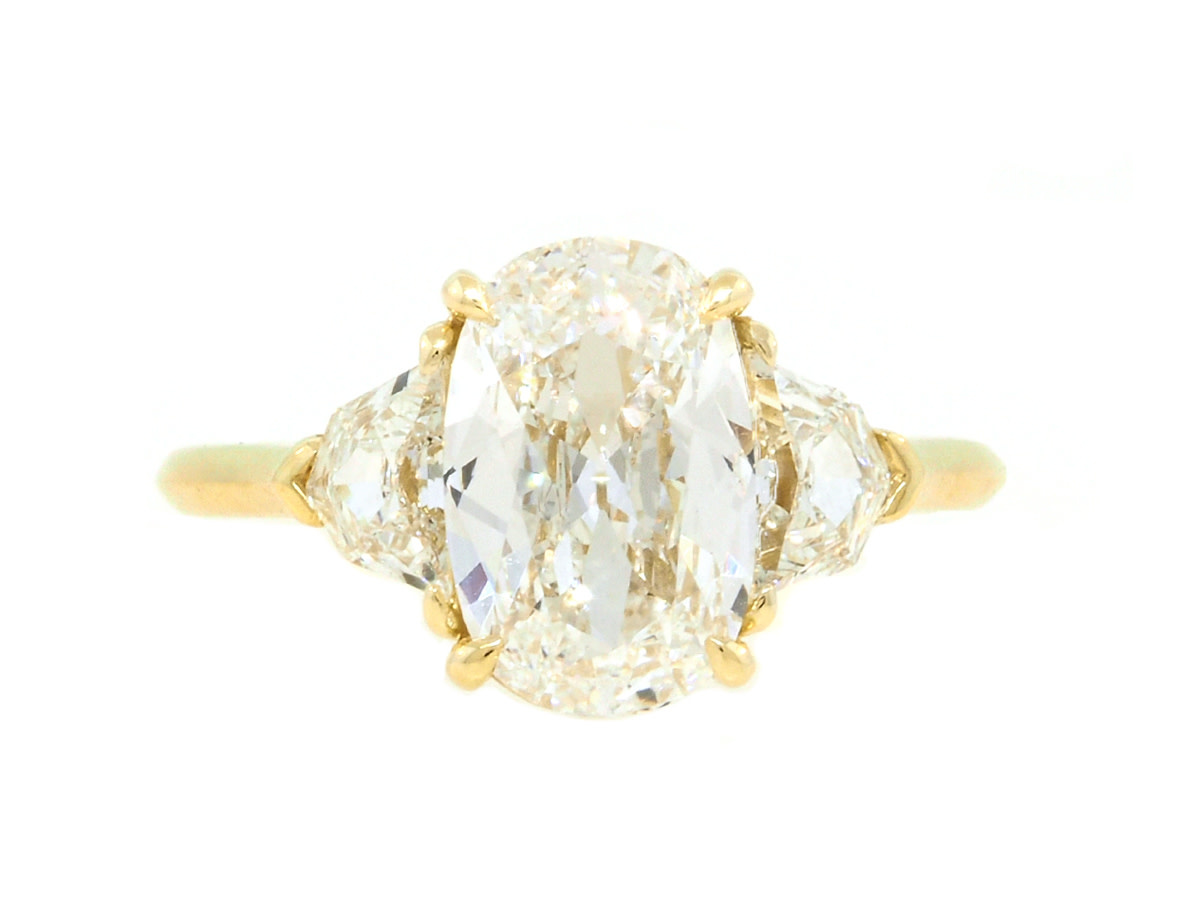 Trabert Goldsmiths 2.08ct HVS2 Elongated Cushion Diamond Trinity