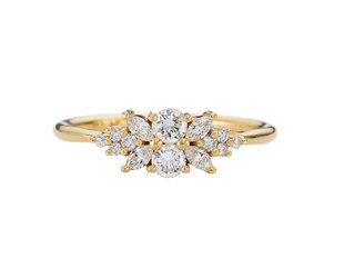 Artëmer Flora Diamond Cluster Engagement Ring AT24