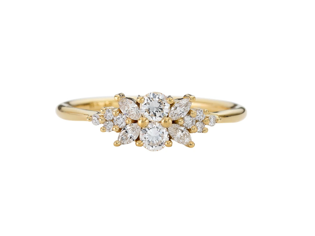 Artëmer Flora Diamond Cluster Engagement Ring